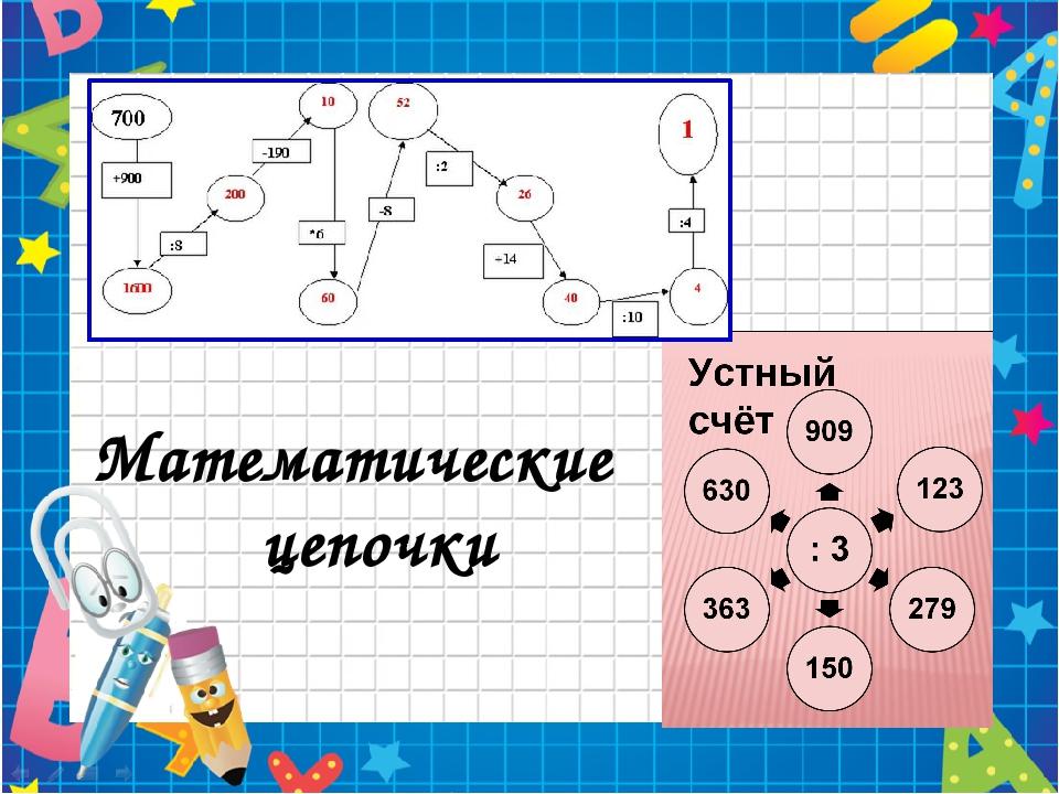 Математические цепочки