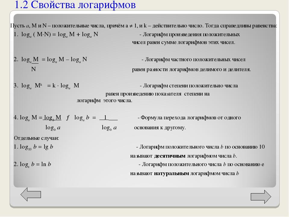Пусть a, M и N – положительные числа, причём a ≠ 1, и k – действительно число...