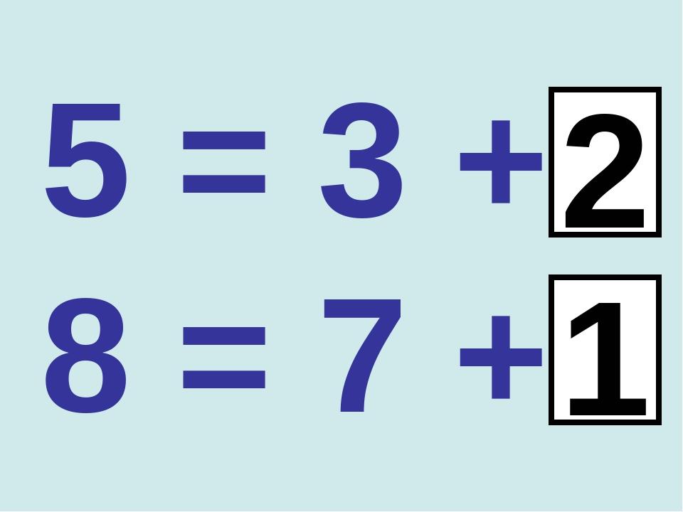 5 = 3 + 8 = 7 + 1 2