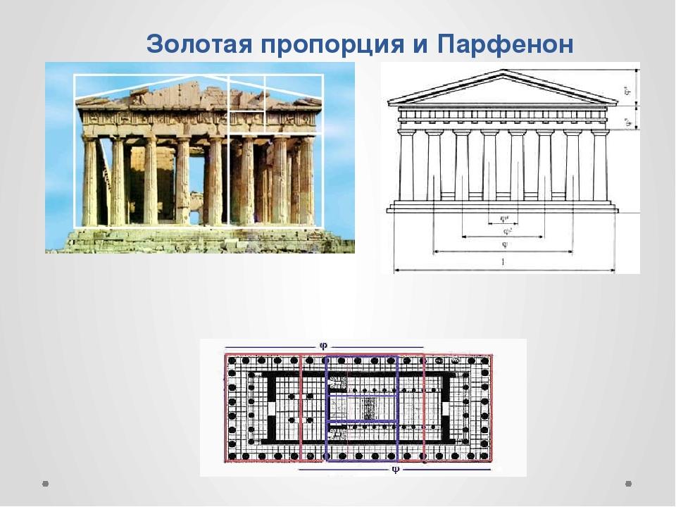 Золотая пропорция и Парфенон