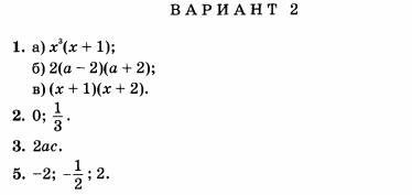 КИМ по алгебре класс Контрольная работа по теме Функция y x2