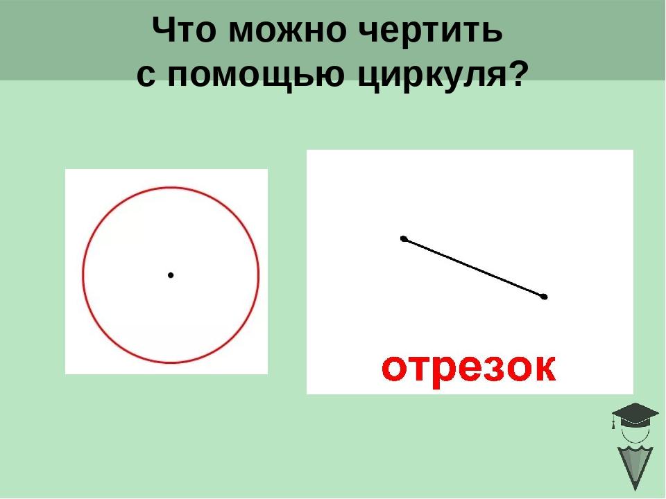 Что можно чертить с помощью циркуля? Click to add title