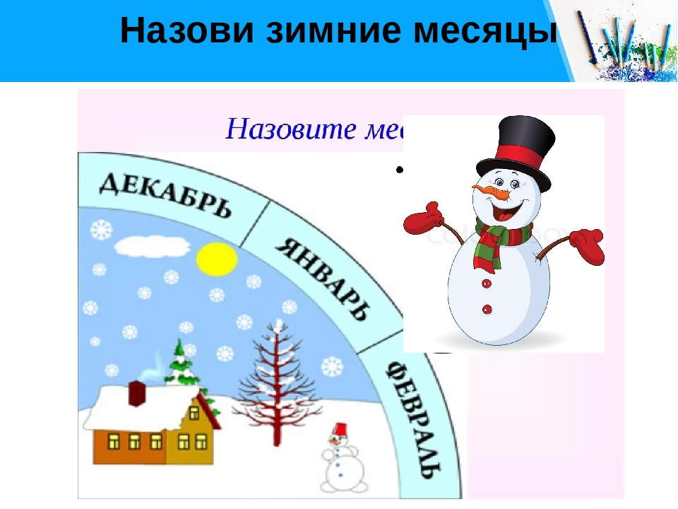Назови зимние месяцы Free PPT _ Click to add title