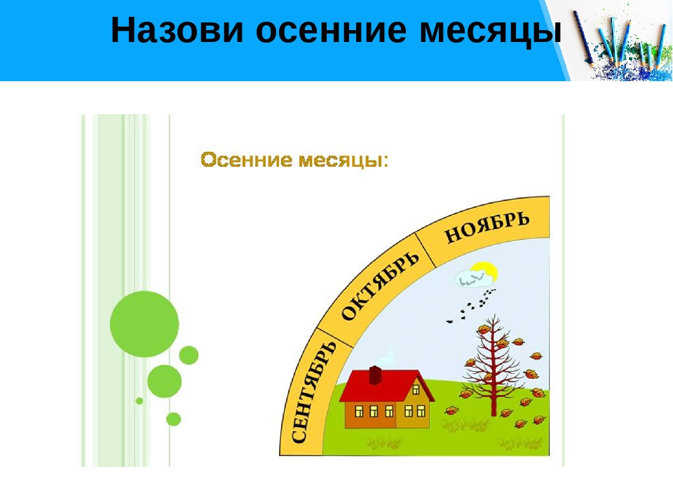 Назови осенние месяцы Free PPT _ Click to add title