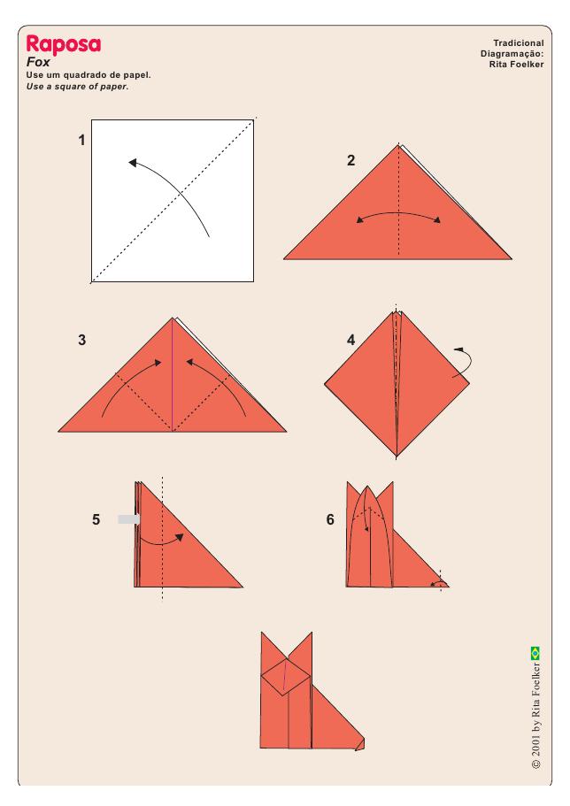 Оригами как сделать лису из бумаги оригами