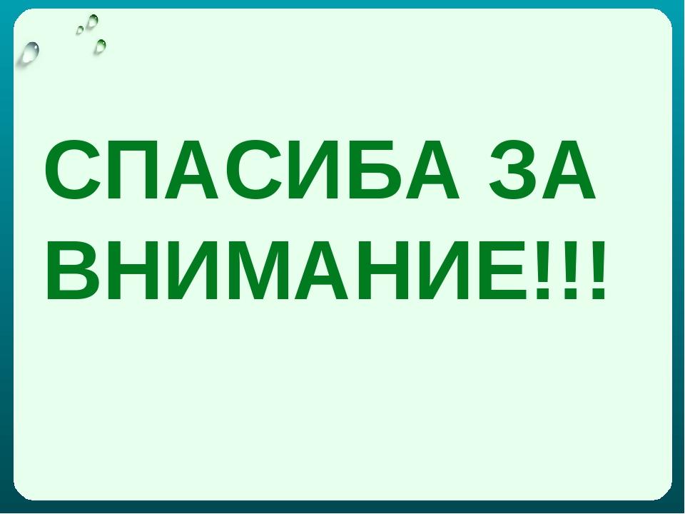 СПАСИБА ЗА ВНИМАНИЕ!!!