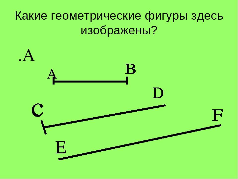 Какие геометрические фигуры здесь изображены? .А