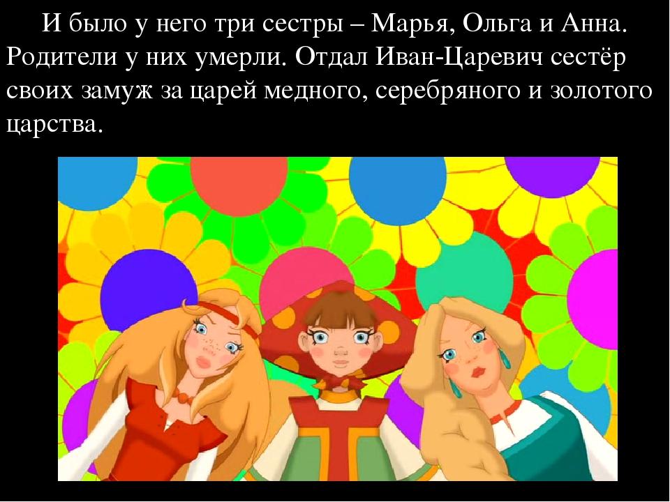 И было у него три сестры – Марья, Ольга и Анна. Родители у них умерли. Отдал...