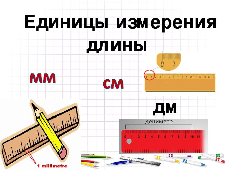 дм Единицы измерения длины