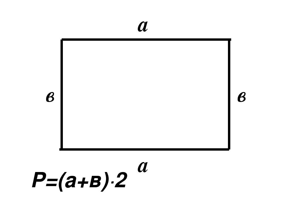 a a в в Р=(а+в)∙2