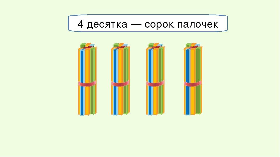 4 десятка — сорок палочек