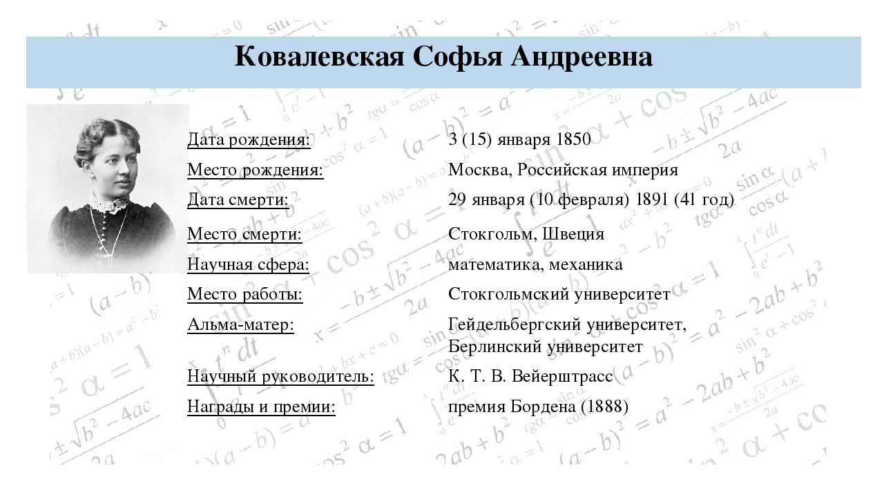 Чебышёв Пафнутий Львович БИОГРАФИЯ: Дата рождения: 4 (16) мая 1821 Место рожд...