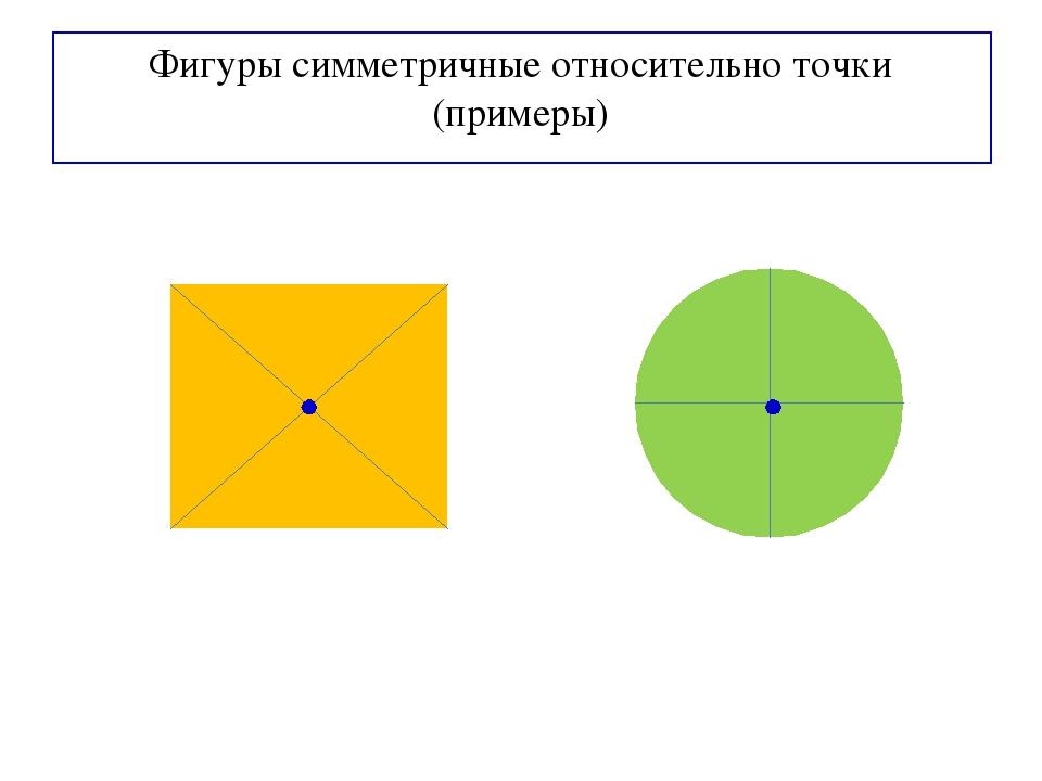 Фигуры симметричные относительно точки (примеры)