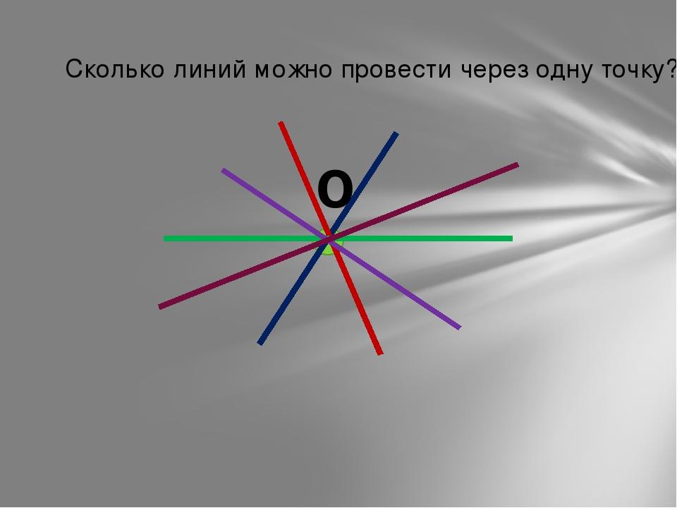 Сколько линий можно провести через одну точку? О