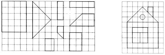геометрические фигуры длинный короткий выше ниже счет до 5.