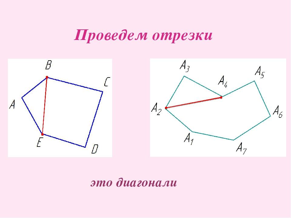 Проведем отрезки это диагонали