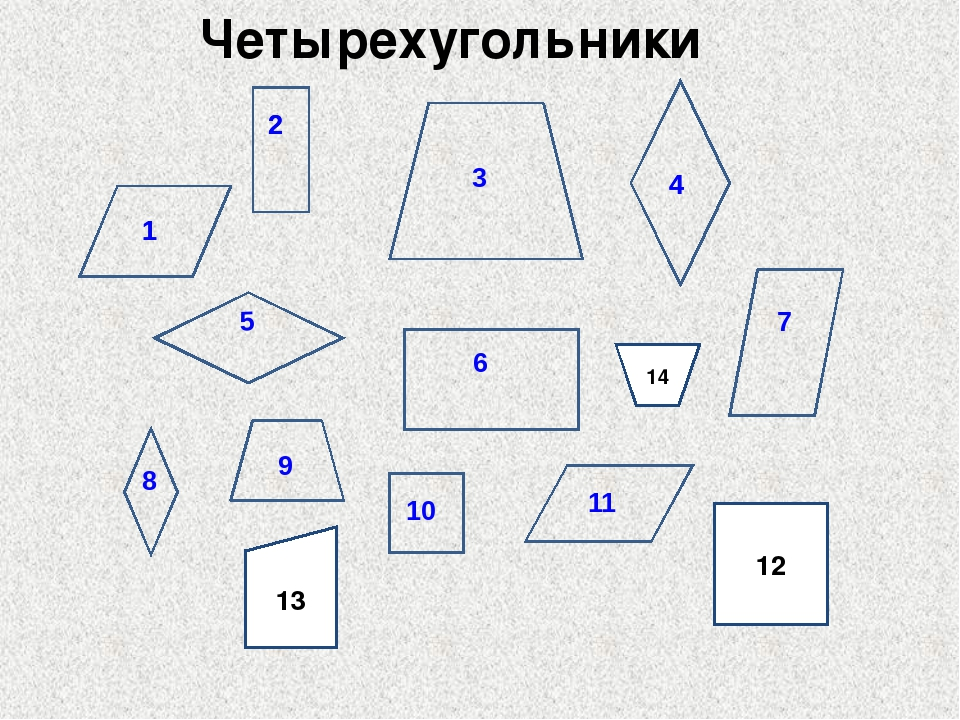 Четырехугольники 12 13 14 1 2 3 4 6 5 7 8 9 10 11 1 2 4