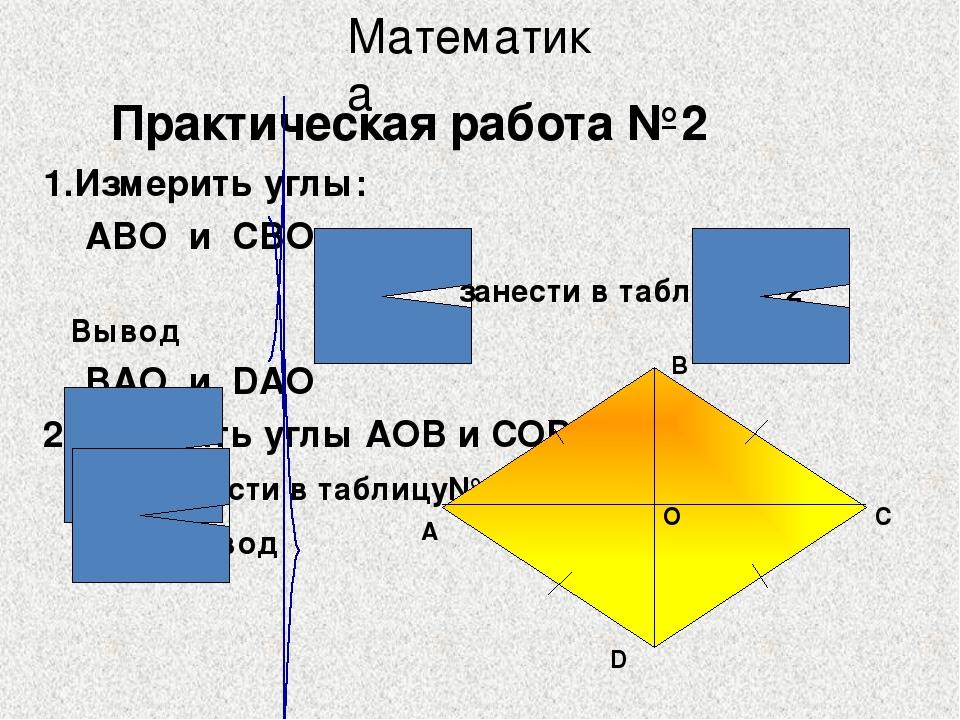 Диагонали прямоугольника равны AC = BD А D C B Свойство прямоугольника Матема...