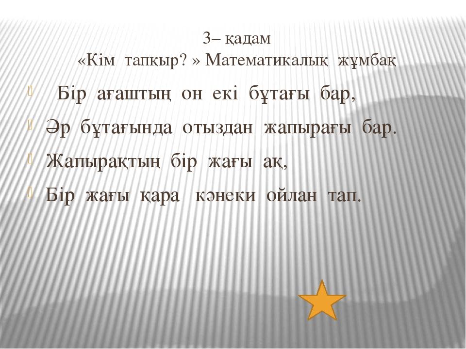 4– қадам «Тарихи зал» Қандай гүл математик әйелдің құрметіне аталған?