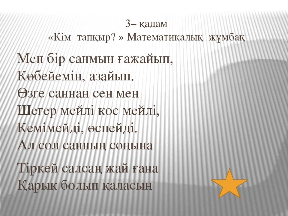 4– қадам «Тарихи зал» Ондық бөлшекті алғаш рет ашқан XV ғасырда өмір...