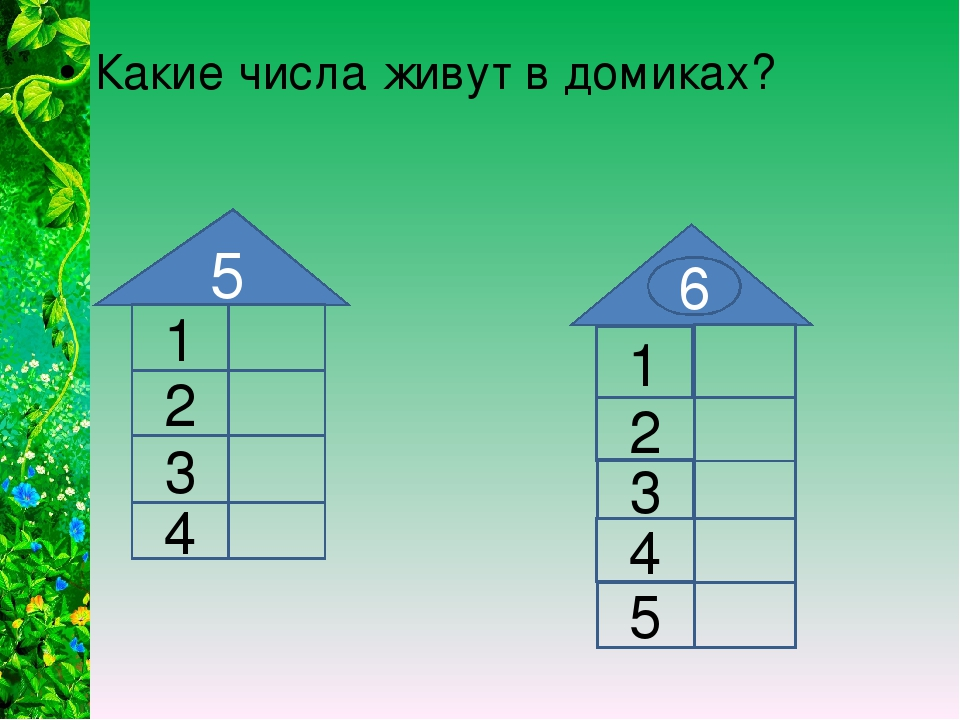 5 1 2 3 1 6 2 3 4 4 5 Какие числа живут в домиках?