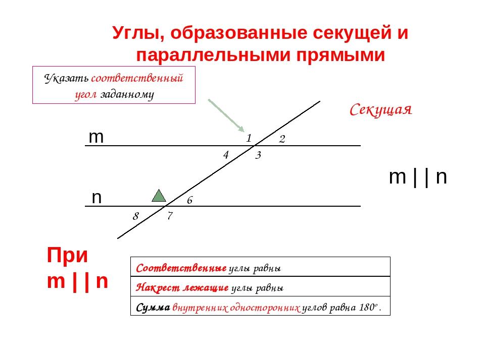 1 2 3 8 7 4 6 Сумма внутренних односторонних углов равна 180o . Соответственн...