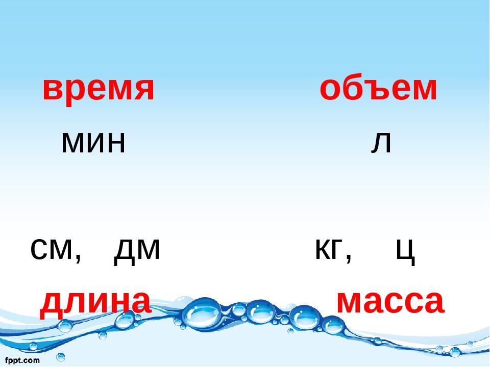 время объем мин л см, дм кг, ц длина масса