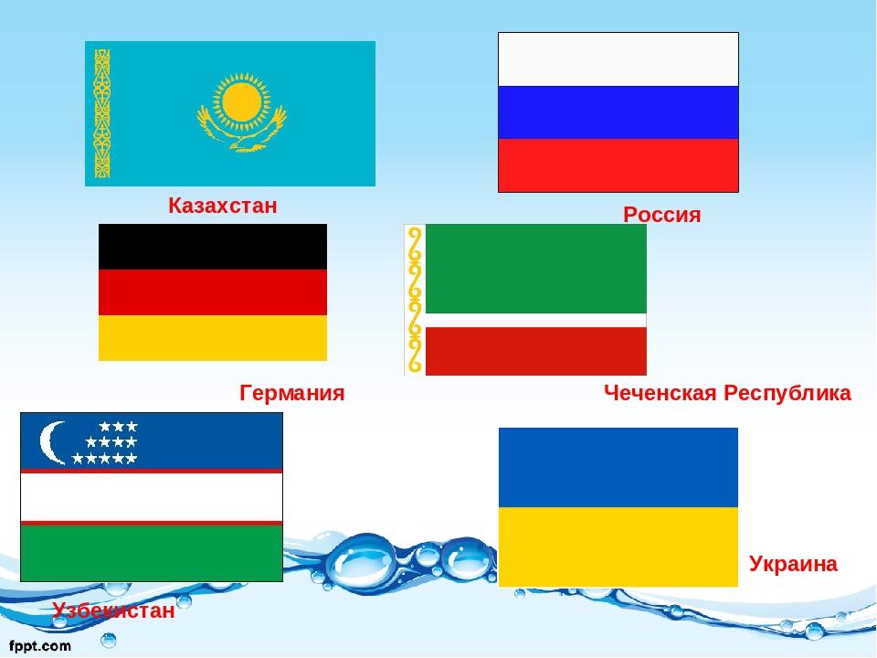Германия Чеченская Республика Узбекистан Казахстан Россия Украина
