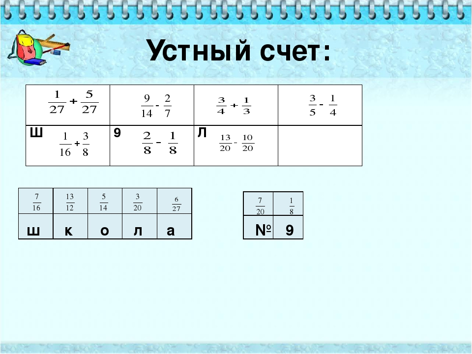 Устный счет: к л ш 9 № а о А О К № Ш 9 Л