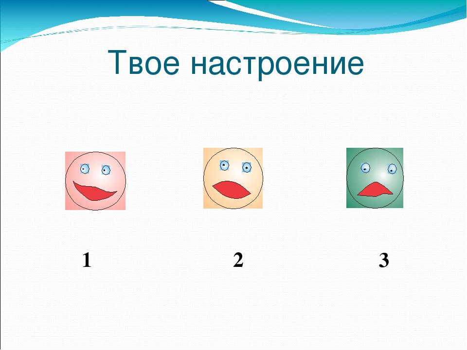 Твое настроение 1 2 3