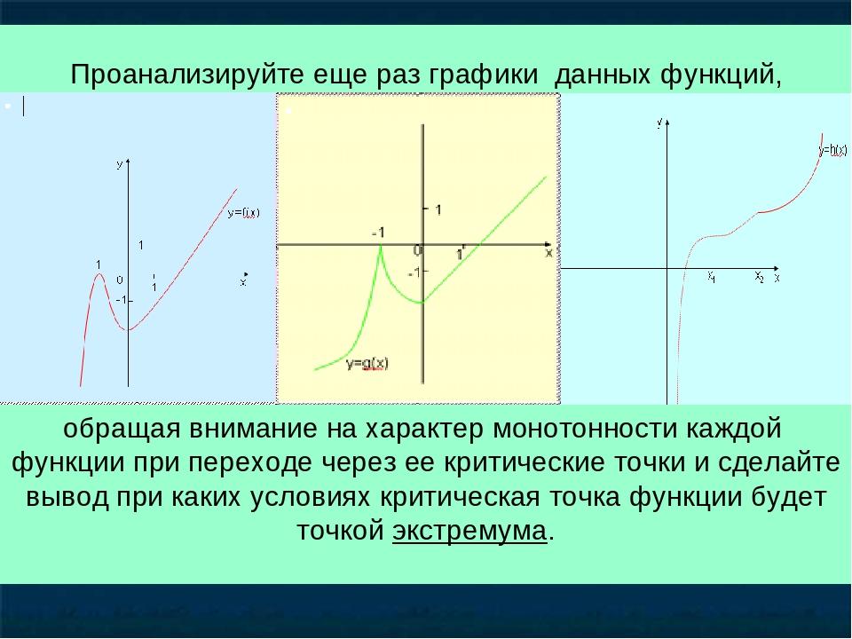 обращая внимание на характер монотонности каждой функции при переходе через е...