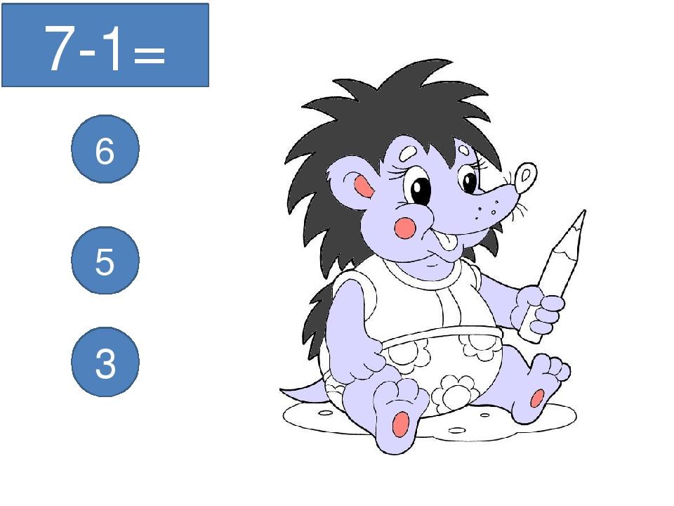 7-1= 6 5 3