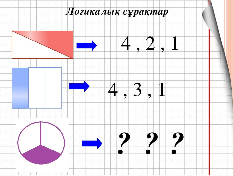 Логикалық сұрақтар 4 , 2 , 1 4 , 3 , 1 ? ? ?